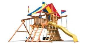 playground with rainbow roof