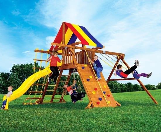 Rainbow Play Systems - 11G Circus Turbo Castle Package 2 Poplar