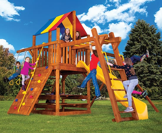 Rainbow Play Systems - 29E Circus Clubhouse Package 3 Poplar
