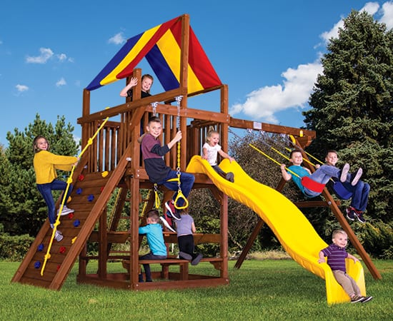 Rainbow Play Systems - 33B Sunshine Clubhouse Package 2