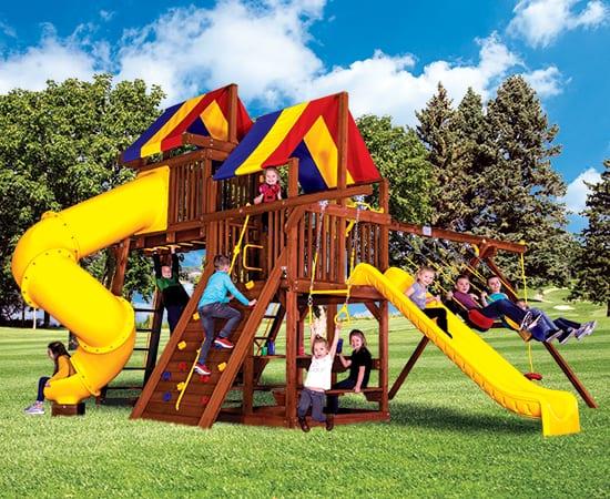 Rainbow Play Systems - 35J Sunshine Clubhouse
